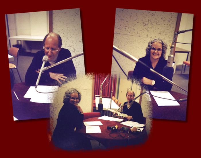 Andrée kaj Claude Gacond ĉe Svisa Radio Internacia, 1984 aŭtune (fotis: Stefano Keller)