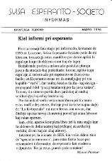 SES informas, 1996, speciala eldono