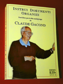 Fest-libro por la 80a naskiĝ-tago de Claude GACOND (Enhavtabelo, mendo)