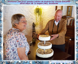 Diamanta (60-a) geedza jubileo de Andrée kaj Claude GACOND, La Sagne, 2018 majo 18